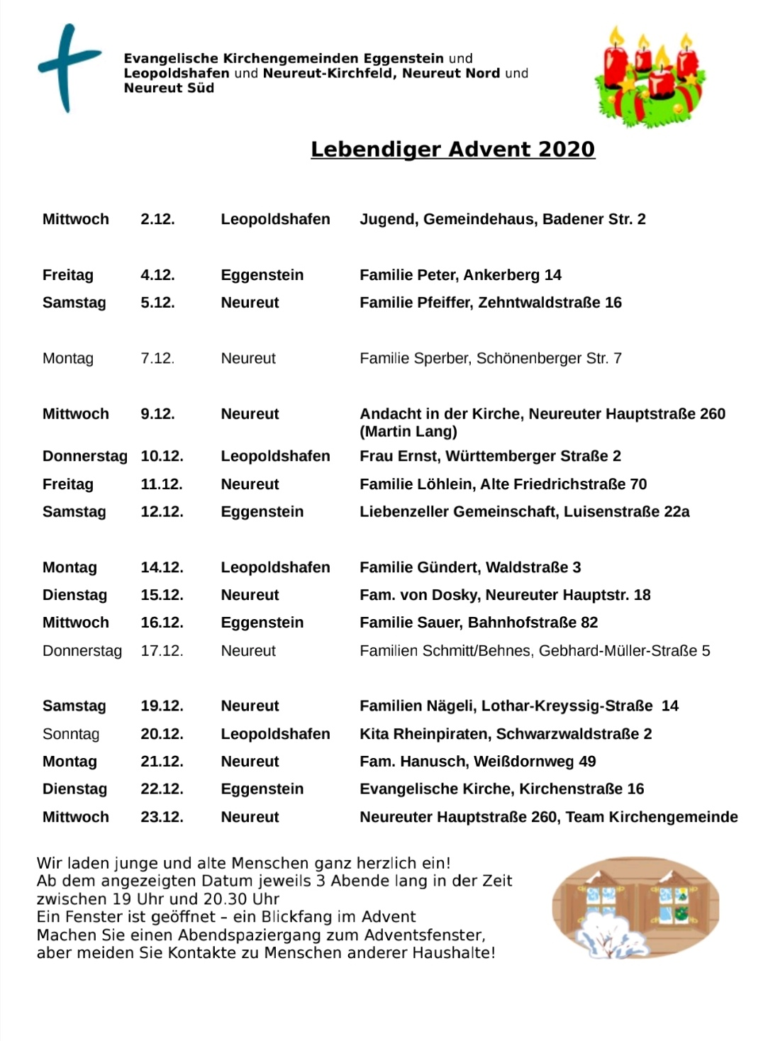 Flyer Lebendiger Advent